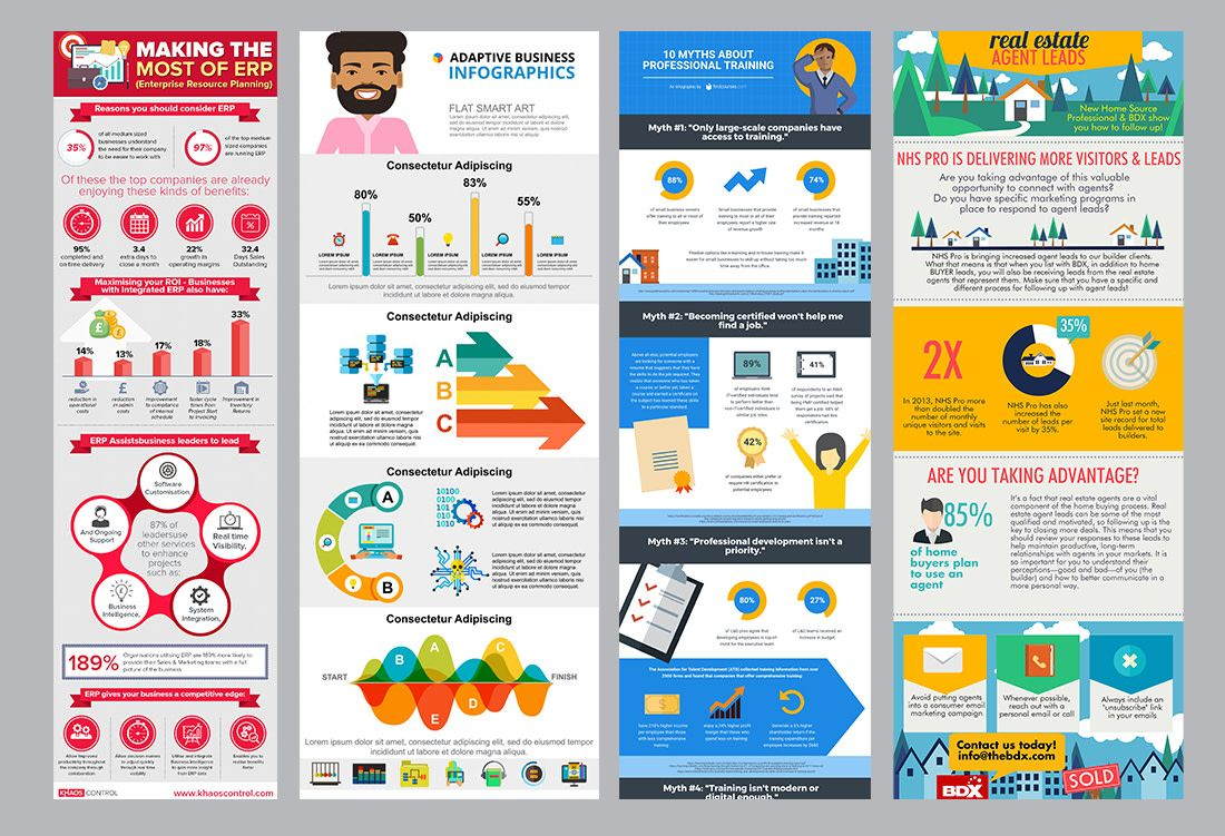 Một số template Infographic minh hoạ