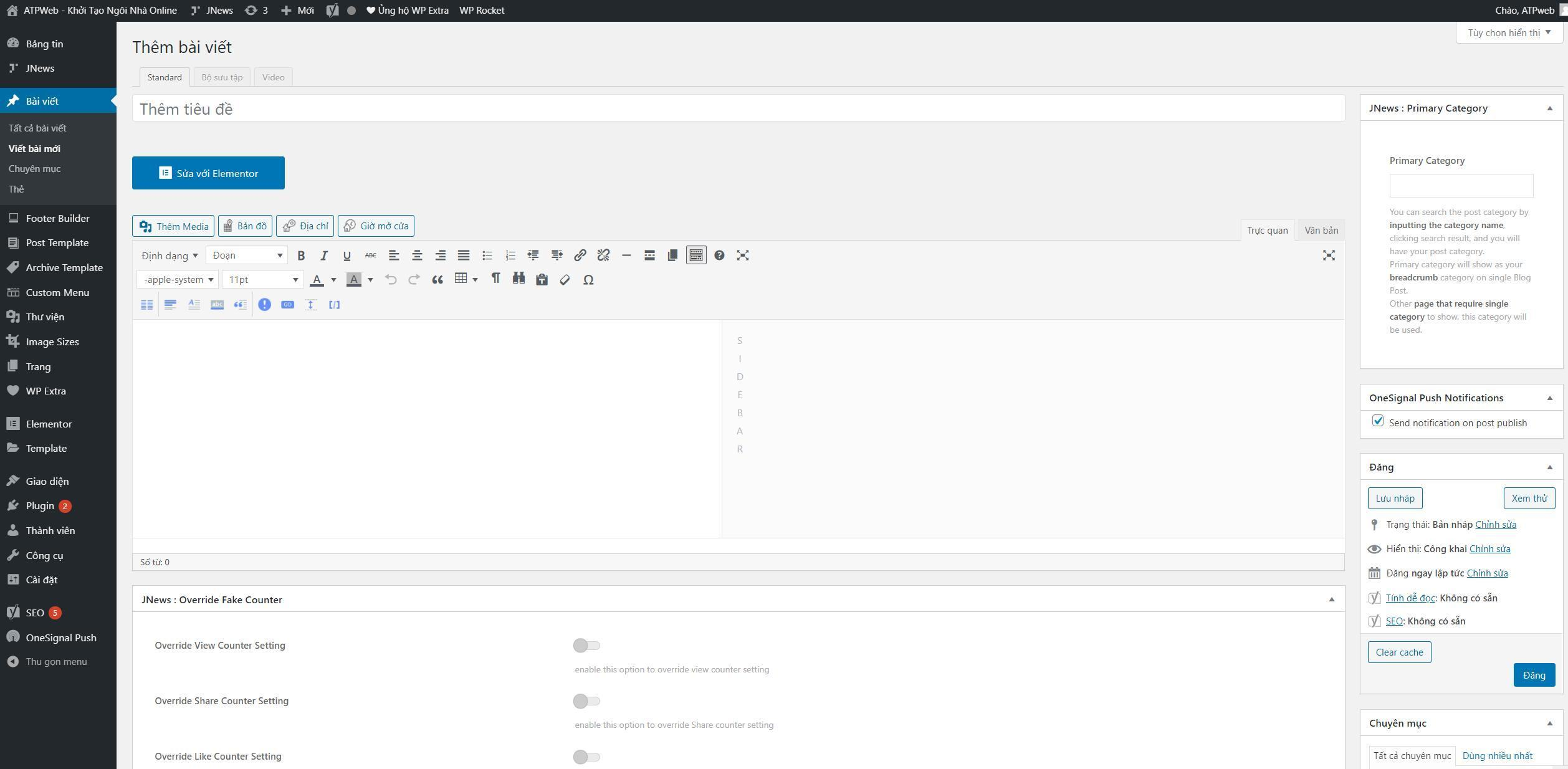 Hướng dẫn cách tạo một bài viết mới trong WordPress đơn giản