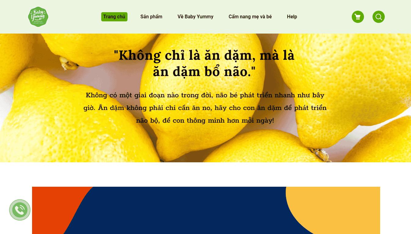 Giao diện Website Mẹ & Bé 1