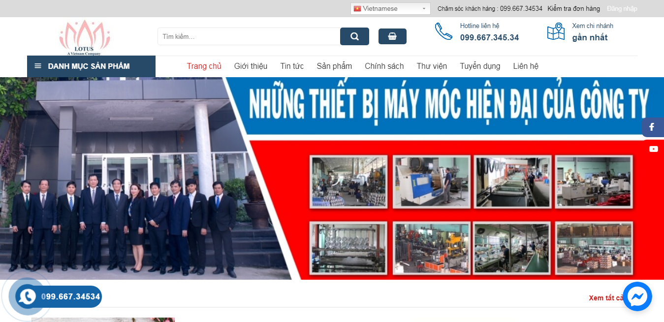 Giao diện Website thiết bị gia dụng