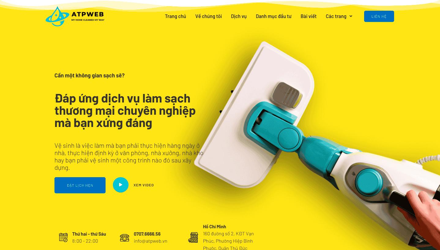 website vệ sinh công nghiệp