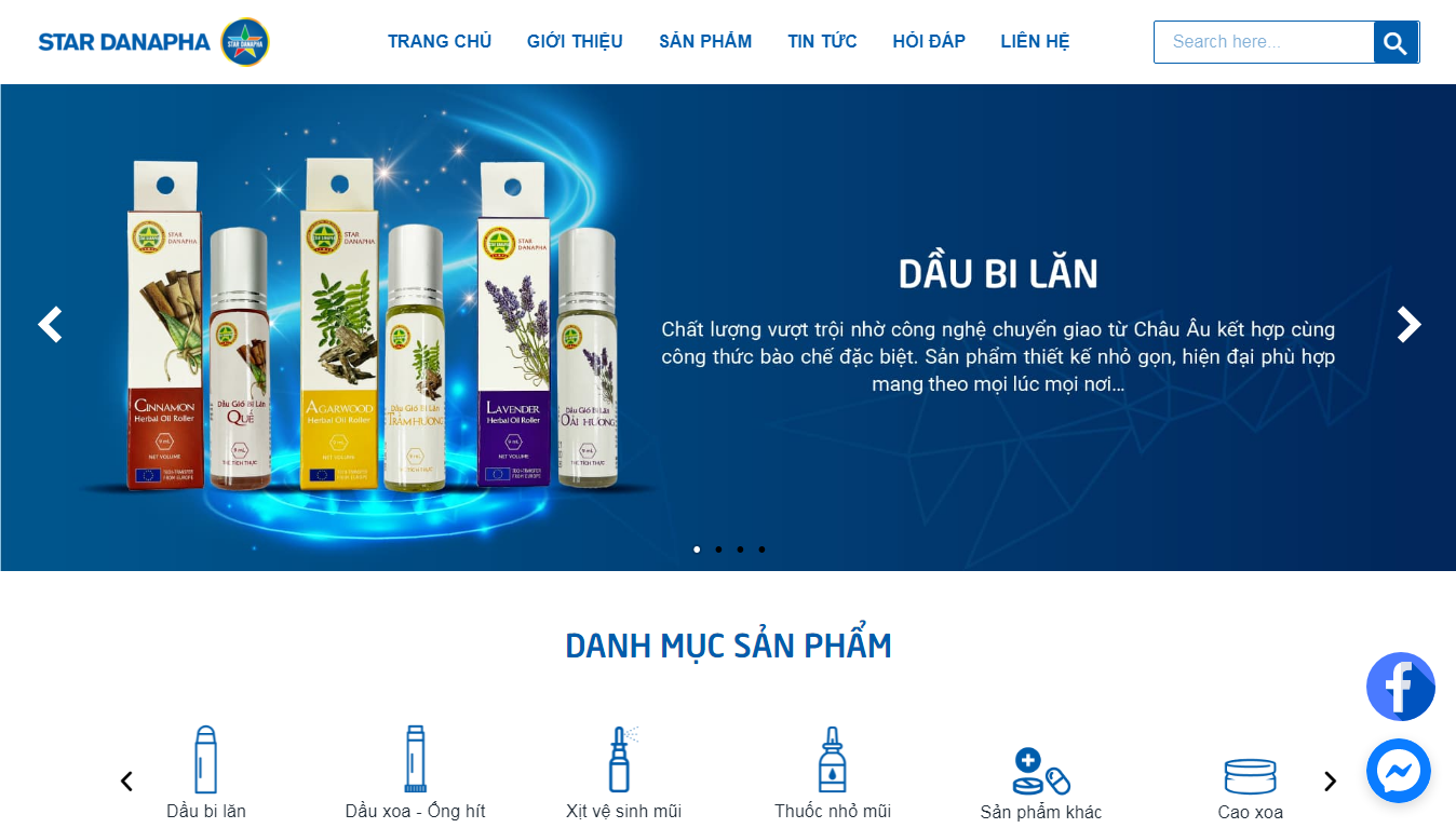 Giao diện Website Dược phẩm