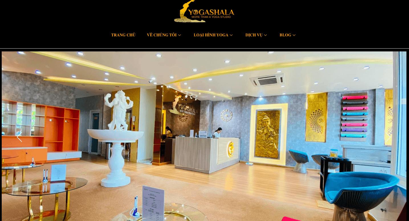 Giao diện website trung tâm yoga giống Yoga Shala