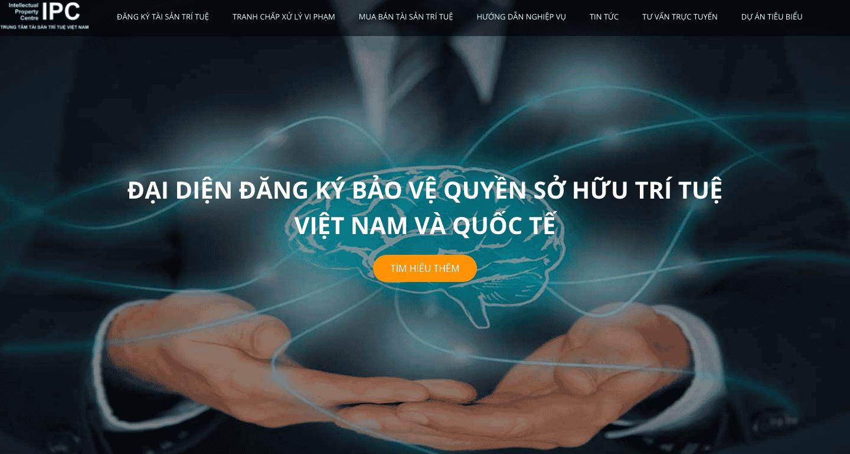 Mẫu Website sở hữu trí tuệ giống Trung Tâm Tài Sản Trí Tuệ Việt Nam